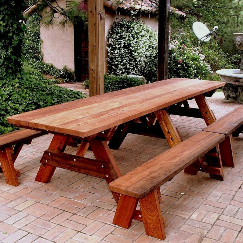 Awe Inspiring Large Wooden Picnic Table Custom Wood Picnic Table Kit Theyellowbook Wood Chair Design Ideas Theyellowbookinfo