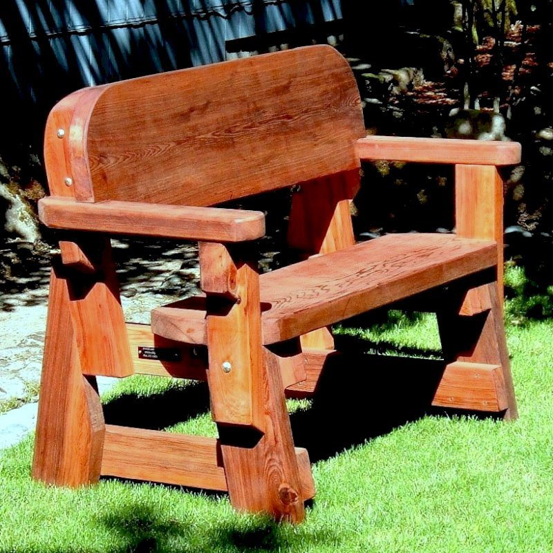 Heritage Bench (Options: 4 ft, No Cushion, No Engraving, Transparent Premium Sealant).