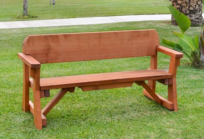 Heritage Bench (Options: 5 ft, No Cushion, No Engraving, Transparent Premium Sealant).
