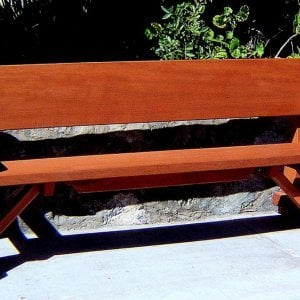 Heritage Bench (Options: 6 ft, No Cushion, No Engraving, Transparent Premium Sealant).