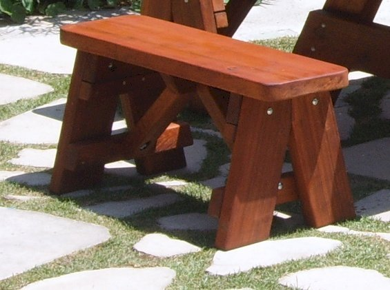 """Heritage Picnic Bench (Options: 3 ft, 17 1/2"""" H, Forever Style Bench, Rounded Corners, No Engraving, Transparent Premium Sealant)."""