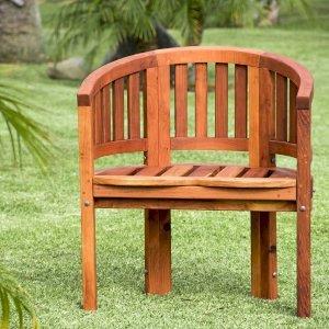 Jane's Key West Chair (Options: California Redwood, No Cushion, No Engraving, Transparent Premium Sealant). Photo Courtesy of M. Bucmaniuk of San Juan Bautista, CA.