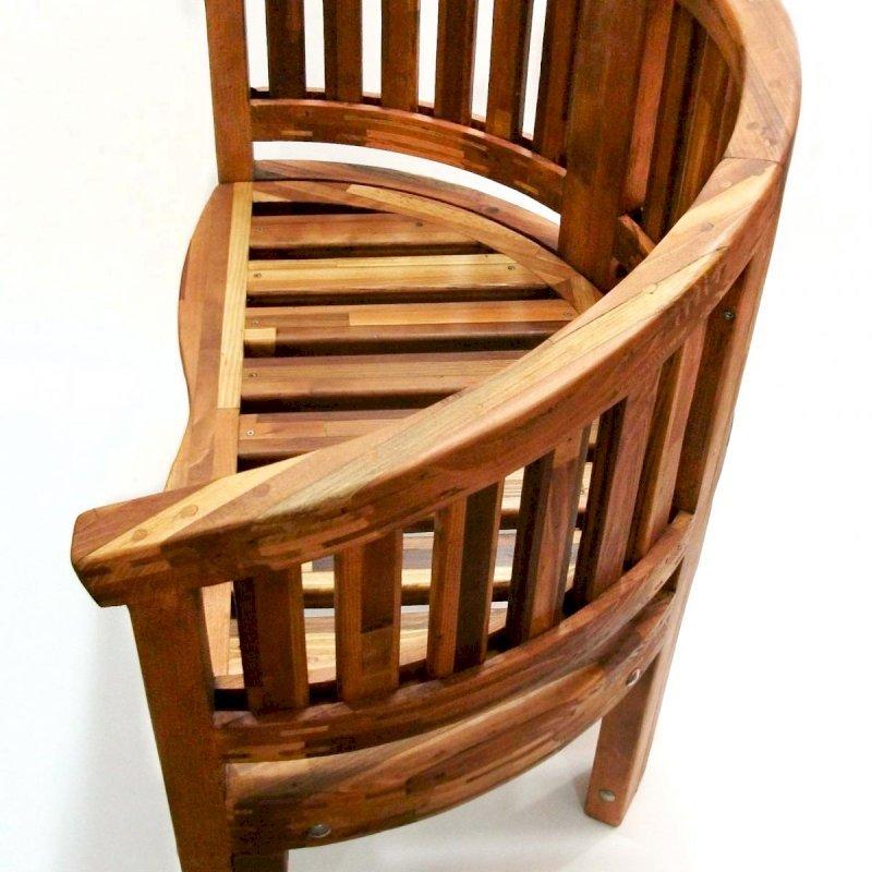 Jane's Key West Bench (Options: Mosaic Eco-Wood, No Cushion, No Engraving, Transparent Premium Sealant).