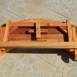 Kid's Arc Folding Bench (Options: Redwood, Transparent Premium Sealant).