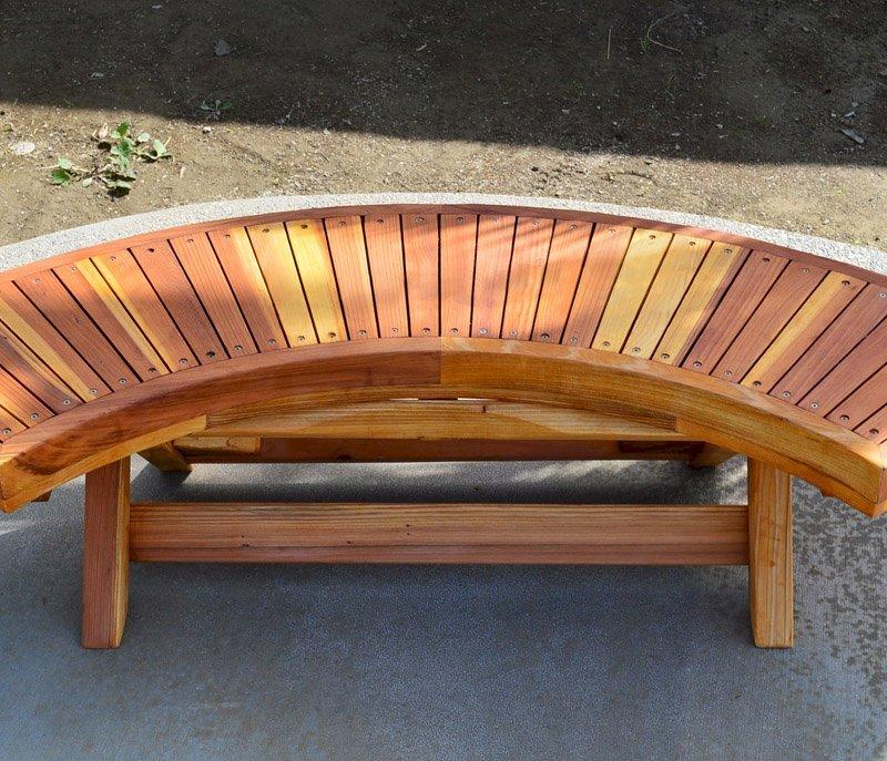 Kid's Arc Folding Bench (Options: California Redwood, Transparent Premium Sealant).