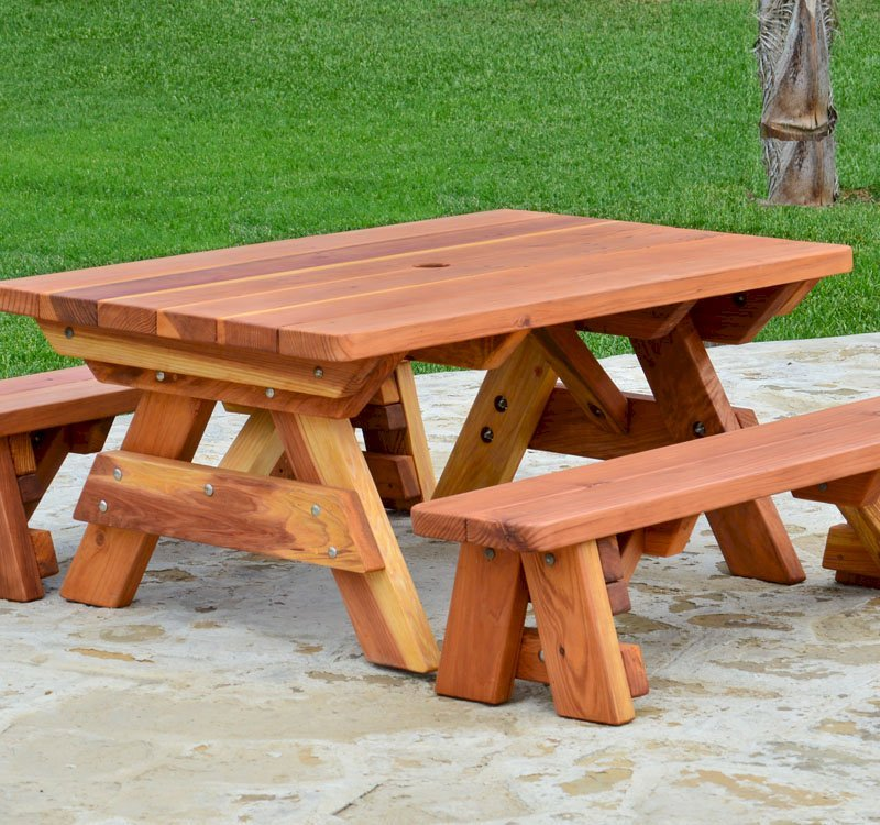 Incredible Kid Size Wood Picnic Table With Detached Benches Forever Bralicious Painted Fabric Chair Ideas Braliciousco