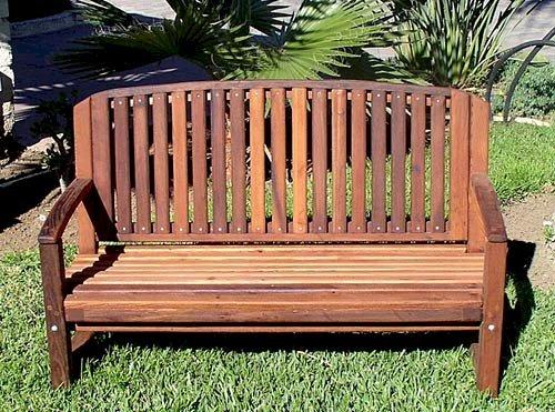 Kid's Luna Bench (Options: Old-Growth Redwood, No Cushion, No Engraving, Transparent Premium Sealant).