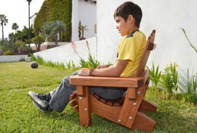 Kid's Wooden Adirondack Chair