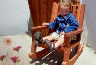 Kid's Wooden Rocking Chair