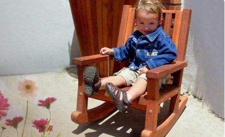 Kid's Wooden Rocking Chair
