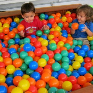 "Yes, its a sandbox, but you can fill it with plastic balls also! La Playa Sandbox (Options: 60""L x 60""W x 15""H, California Redwood, No Lid, Transparent Premium Sealant). Balls not included (can be purchased from many vendors online)."
