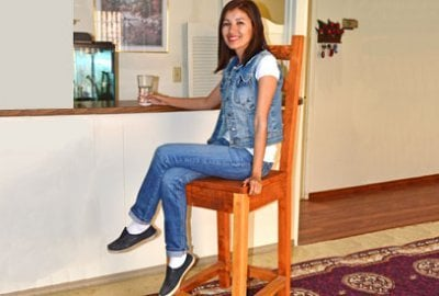Ladderback Wooden Stool