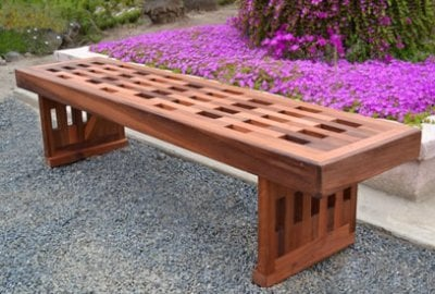 Lighthouse Garden Bench