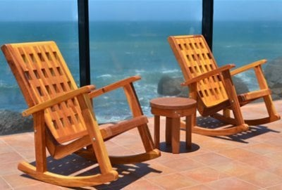 Lighthouse Wooden Rocking Chair