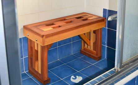 Lighthouse Wooden Shower Bench