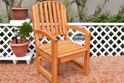 Luna Arch Back Wooden Chair