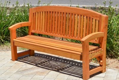 Luna Wood Memorial Bench