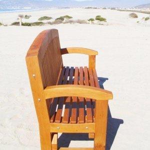 Luna Memorial Bench (Options: 5 ft, Douglas-fir, No Cushion, No Engraving, Transparent Premium Sealant).