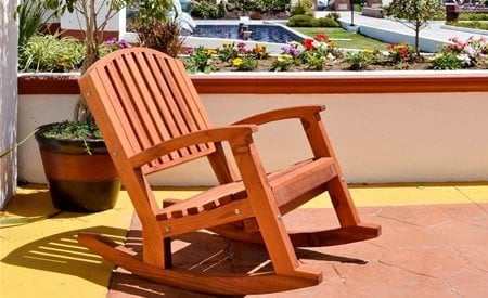 Luna Wood Rocking Chair
