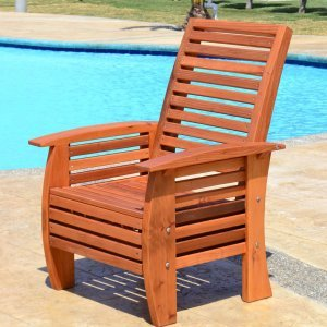 Marazul Chair (Options: Mature Redwood, No Cushion, Transparent Premium Sealant).