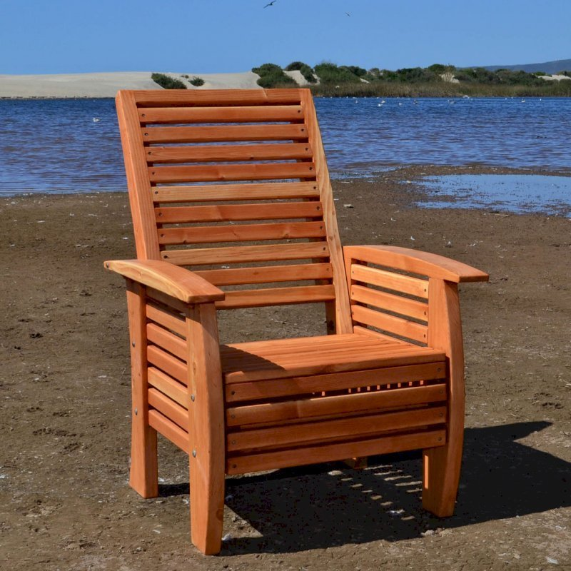 Marazul Chair (Options: Douglas-fir, No Cushion, Transparent Premium Sealant).