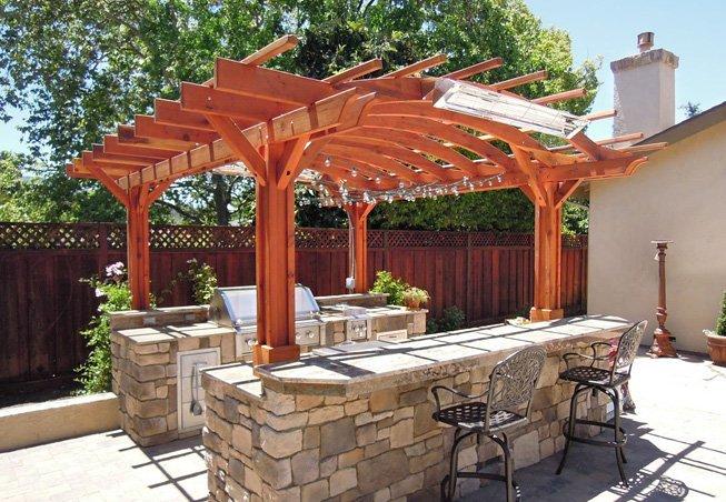 Marin Outdoor Kitchen Pergola