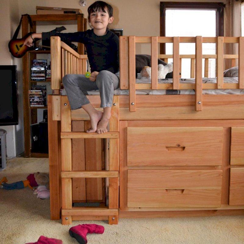 Marissa's Adventure Loft (Options: Double Bed Size, Douglas, Transparent Premium Sealant).