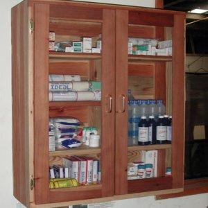 Medicine Cabinet- 32 x 12 x 36 - Redwood