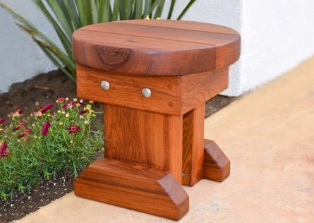 Mini 12 inch Round Wood Side Table
