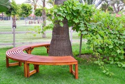 Miramar Half Circle Tree Bench