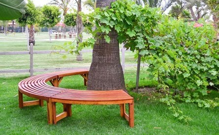 Miramar Half Circle Tree Bench