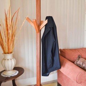Mooby's Hall Tree (Options: Mature Redwood, Transparent Premium Sealant).