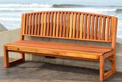 Moonlight Redwood Bench