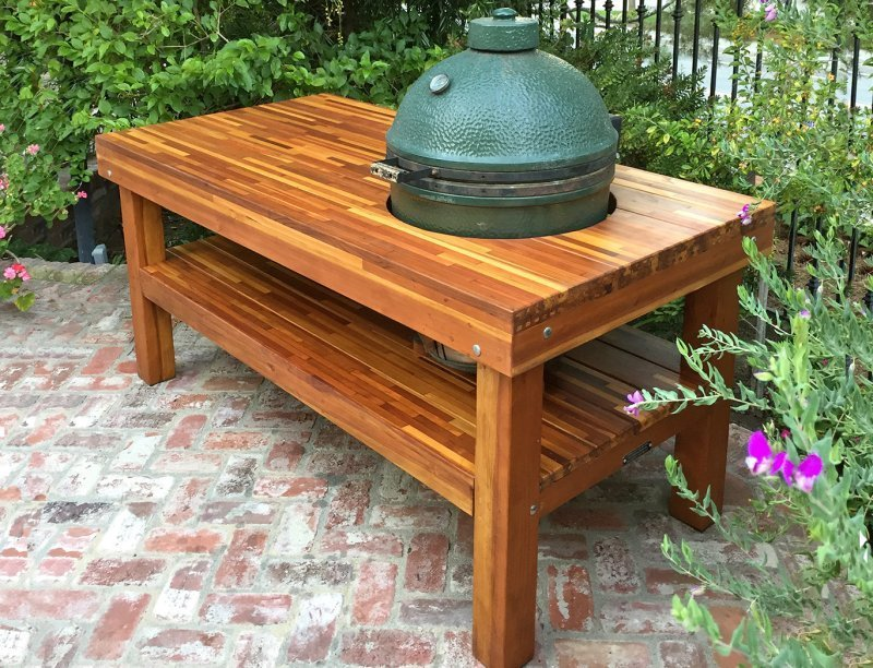 Outdoor Table with Built In Grill