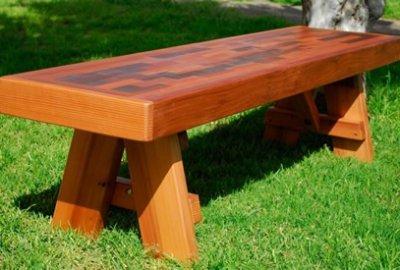 Parquet Wooden Bench