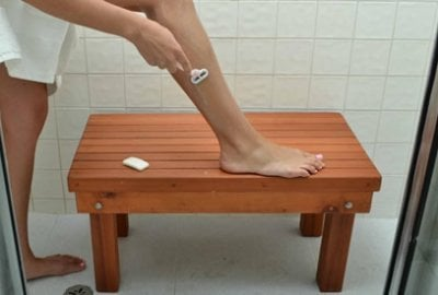 Patio Wood Shower Bench
