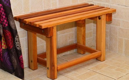 Paty's Wooden Shower Bench