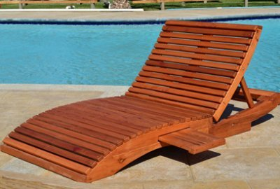Penny Wooden Sun Lounger