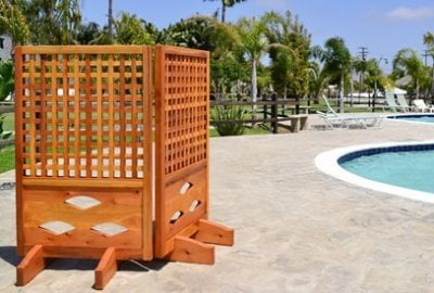 Poolside Privacy Panels