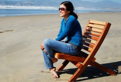Portable Redwood Beach Chair