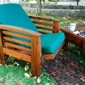 Reclining Easychair (Options: Old-Growth Redwood, 4