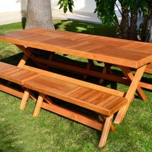Rectangular Folding Picnic Table (Options: 96