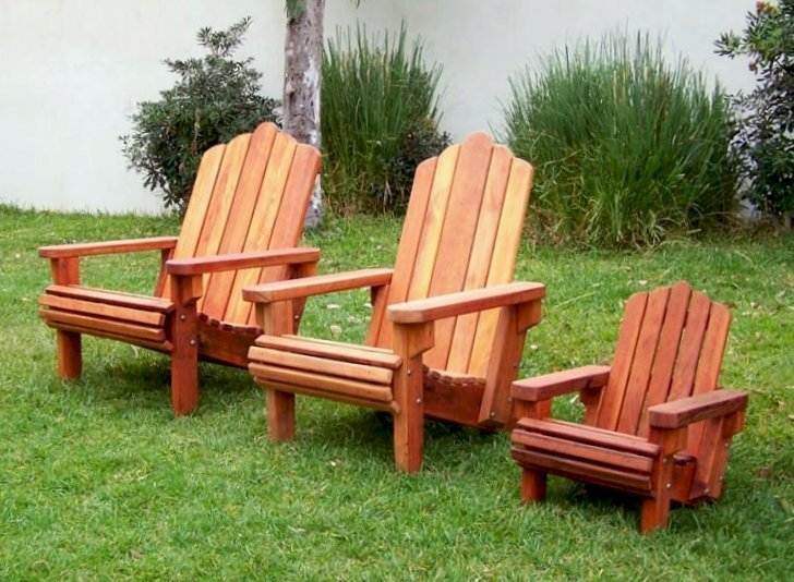 PAPA BEAR, MAMA BEAR AND BABY BEAR: Our 3 Adirondack Chair Sizes (Options: Extra Wide - Left, Standard - Center, Kid's - Right, Redwood - Left & Center, Old-Growth Redwood - Right, No Cushion, Transparent Premium Sealant)