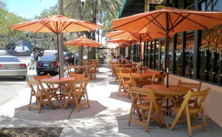 Redwood Folding Table and Chairs