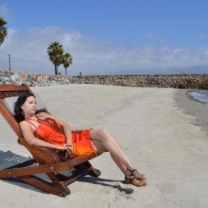 Rio Hammock Chair (Options: Old-Growth Redwood, with pillow, Transparent Premium Sealant). Photo: Courtesy of Estero Beach Resort, Ensenada, México and Ms. Yesenia  Veliz