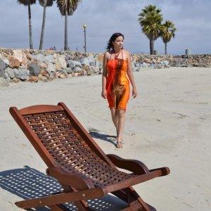 Rio Hammock Chair (Options: Old-Growth Redwood, no pillow, Transparent Premium Sealant). Photo: Courtesy of Estero Beach Resort, Ensenada, México and Ms. Yesenia  Veliz