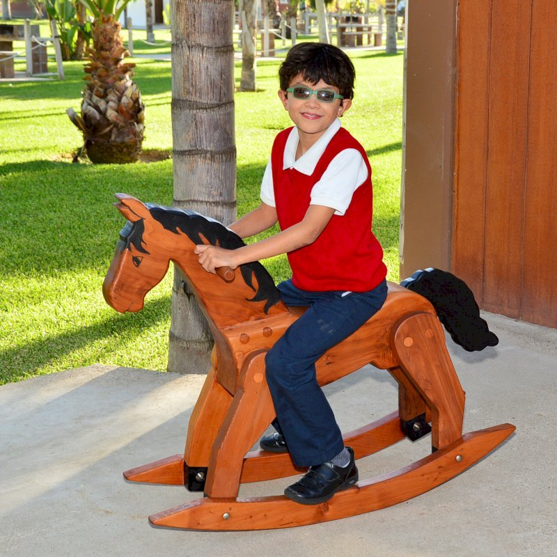 Rocking Horse (Options: Old-Growth Redwood, Transparent Premium Sealant).
