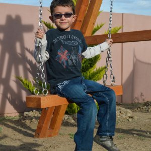 Rory's Swing Seat is the standard seat for adult and older kid use. Rory's Giant Playground Swing Set (Options: 2 Seats, Douglas-fir, Standard Swing Seats, Transparent Premium Sealant).