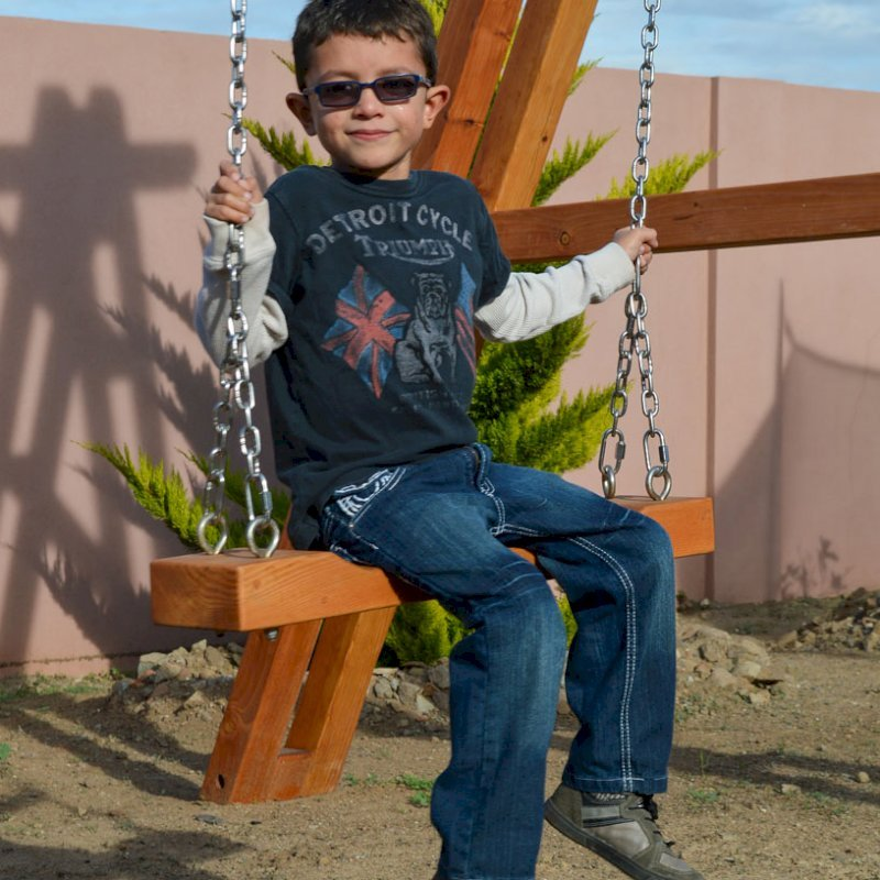 Rory's Swing Seat (Options: Douglas-fir, All Beam Hanging Hardware, Transparent Premium Sealant)