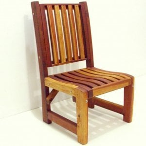Ruth Chair (Options: No Arms, Redwood, No Cushion, Transparent Premium Sealant).